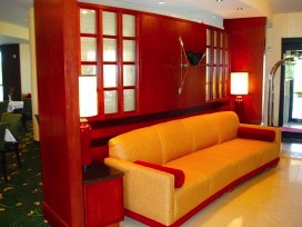 Architectural custom hotel lobby space